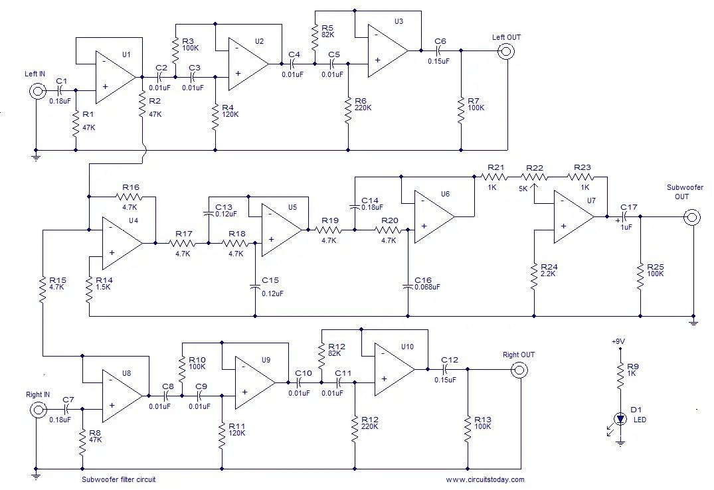 hight resolution of subwoofer filter
