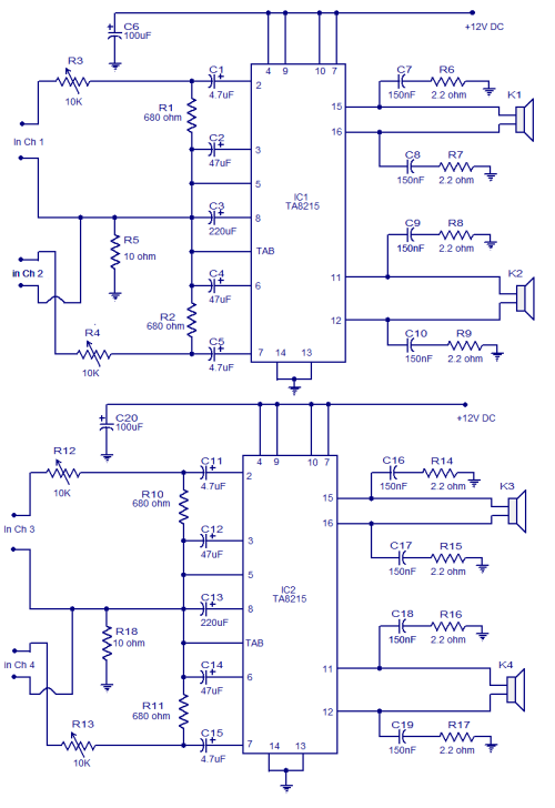 small resolution of 4x15w amplifier circuit