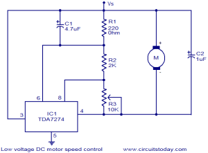 Low voltage DC motor speed control circuit  Electronic Circuits and DiagramsElectronic