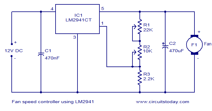 l298 h bridge circuit diagram cat6a wiring fan speed controller using lm2941 - electronic circuits and diagrams-electronic projects design