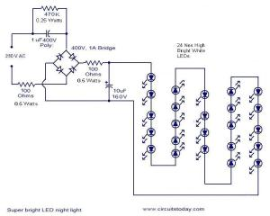mains optd led  Electronic Circuits and Diagrams