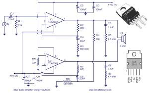 Audio Amplifier Circuit Diagram  30 Watts