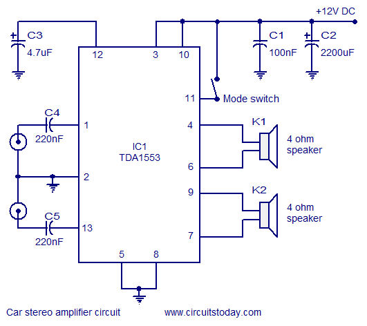 Wiring Diagram For Car Stereo With Amplifier