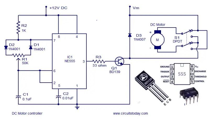 Dc Motor Sd Control Circuit Diagram | 12 Volt Dc Motor Circuit Diagram Simplexstyle Com