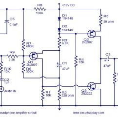 Headphone Wiring Diagram Kazuma 110cc Quad Transistor Amplifier Circuits Circuit Of Head Phone