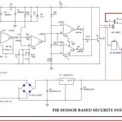Digital Temperature Controller Circuit Diagram Gm Single Wire Alternator Pir Wiring Sensor Based Security System Working Applicationspir