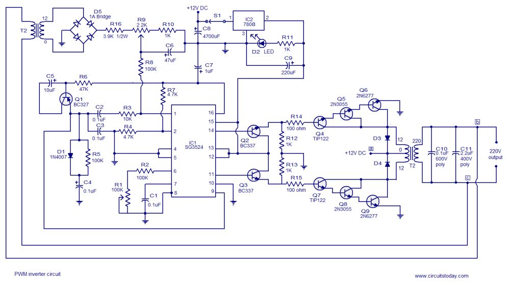 medium resolution of 250w pwm inverter circuit