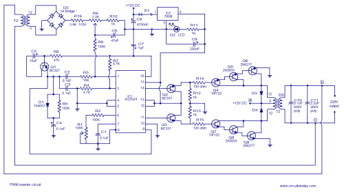 small resolution of 250w pwm inverter circuit