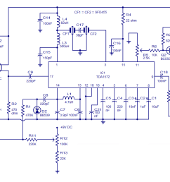 am radio circuit based on tda1572 9v operation 2w output air conditioning schematic diagram am [ 1219 x 792 Pixel ]