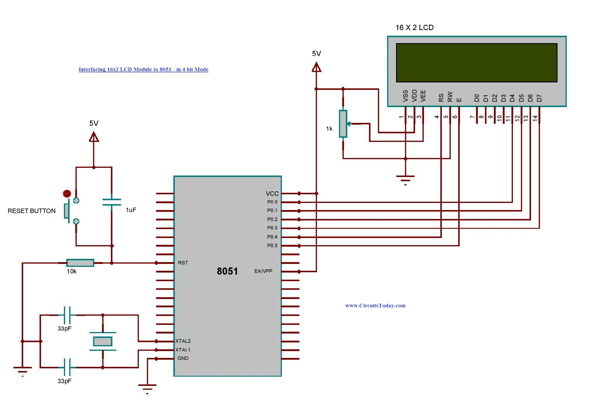 Interfacing 16x2 LCD With 8051 Microcontroller LCD Module Theory