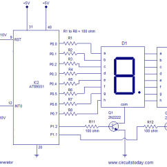 Digital Frequency Counter Block Diagram Drawing A Fire Escape Simple Random Number Generator Using 8051 Microcontroller. At89s51 Is The Controller Used Here.
