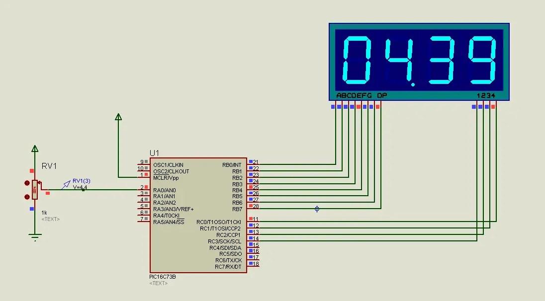 Electronic Voltmeter Circuit