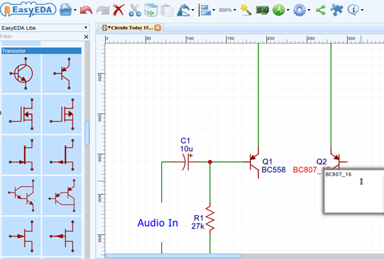 how to draw a circuit diagram lima bean label pcb layout and simulate online editing components in schematic