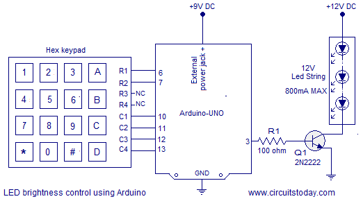 generator avr circuit diagram project team structure motor speed control using arduino. hex keypad used as input. pwm method is for ...