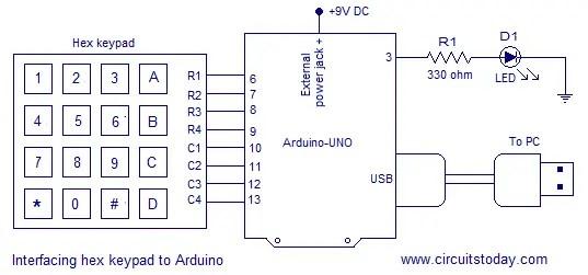 Digital Code Lock Using Arduino Circuit Diagram Program And Theory