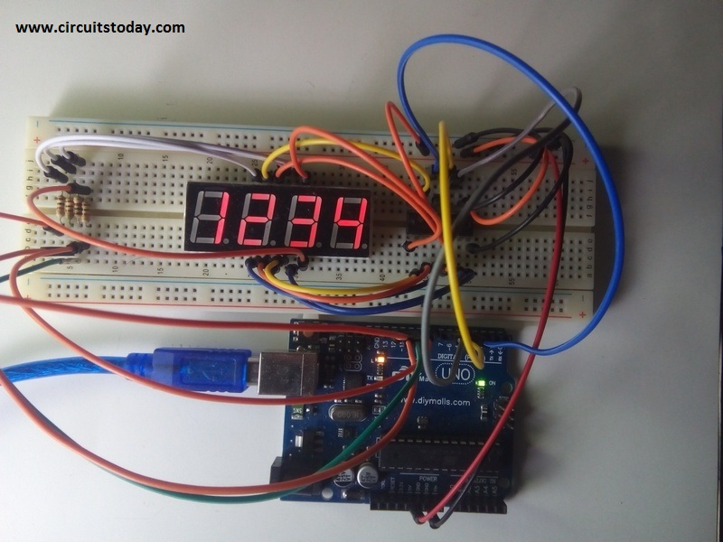 And 7 Segment Display Interfacing Tutorial Electronic Circuits
