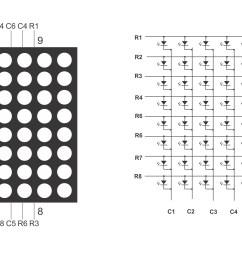 8x8 matrix pinout [ 6626 x 3364 Pixel ]