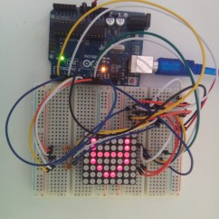 Convert Circuit Diagram To Breadboard Cat5 Wiring A Vs B Interfacing 8x8 Led Matrix With Arduino Code Interface
