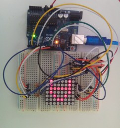 8x8 led matrix interface with arduino breadboard circuit [ 3120 x 4160 Pixel ]