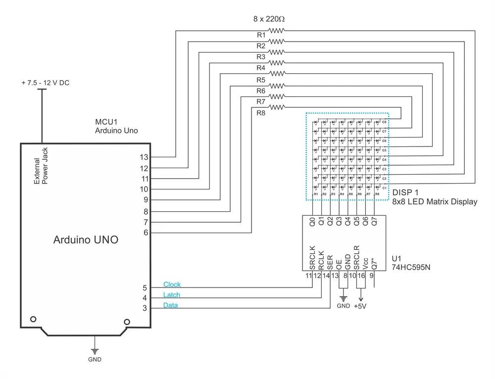 11 Pin Cube Relay Wiring Diagram Led Matrix 8 8 And 74hc595