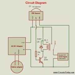 Pir Motion Sensor Light Wiring Diagram Pillars Of Islam Circuit Great Installation Diy Using Led Bulb And Rh Circuitstoday Com Board Design