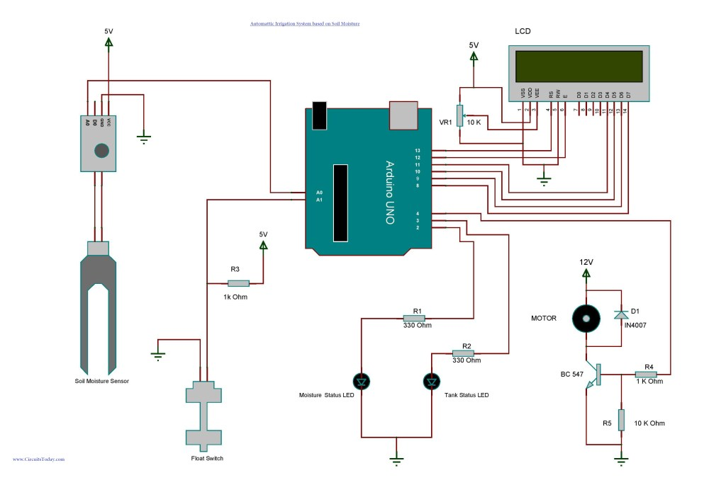 medium resolution of wiring diagram for irrigation system wiring diagram database arduino irrigation and automatic plant watering with soil