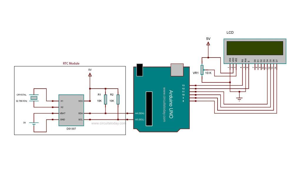 medium resolution of circuit diagram arduino real time clock