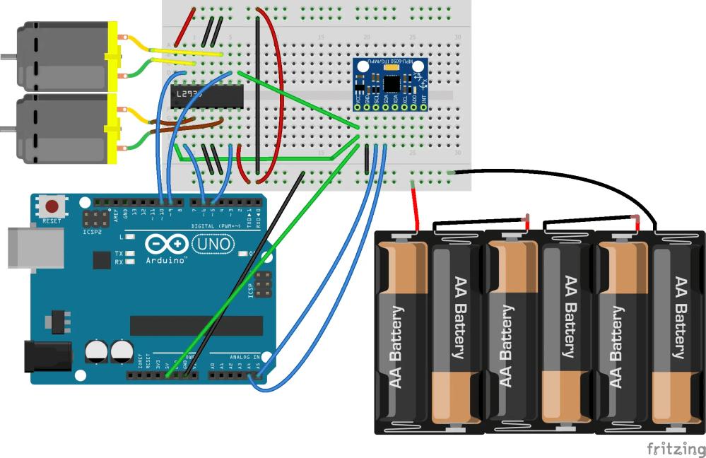 medium resolution of dc motor speed control using gy 521 gyro accelerometer and arduino arduino dc motor diagram arduino gyro wiring diagram