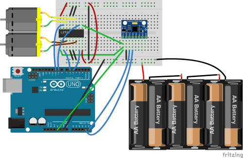 small resolution of dc motor speed control using gy 521 gyro accelerometer and arduino arduino dc motor diagram arduino gyro wiring diagram