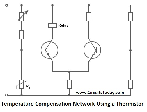 thermistor symbol electrical diagram 7 way trailer connector working types ntc ptc uses comparison applications temperature compensation network using