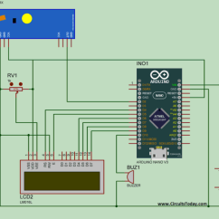 Liquid Level Controller Circuit Diagram Ceiling Fan Switch Wiring Water Indicator Using Arduino & Ultrasonic Sensor- Circuit, Program