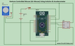 Gesture Controlled Mouse (Air Mouse) Using Arduino
