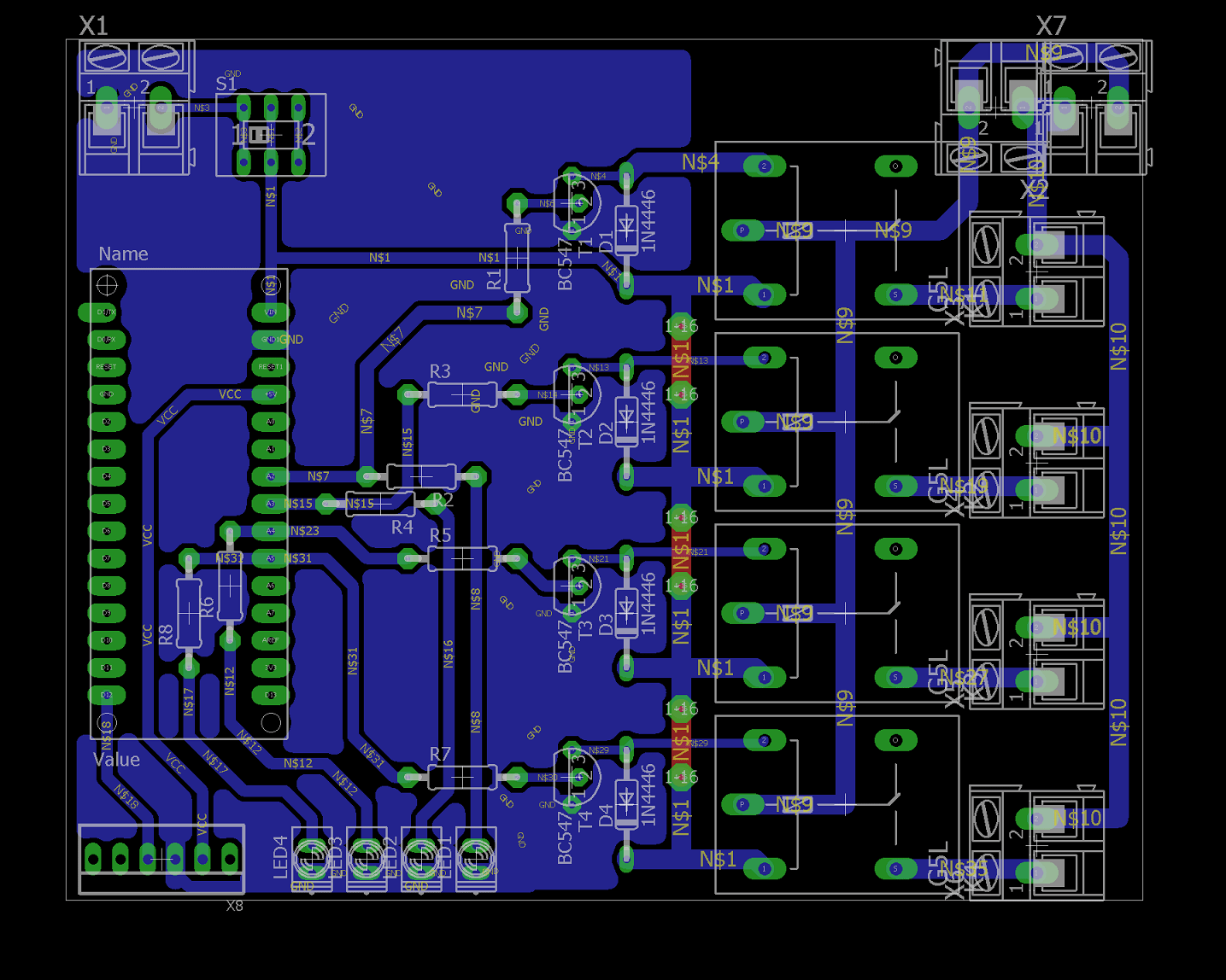 Dc 3 Pin Wiring Diagram Home Automation Using Ir Remote Control Working Pcb