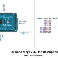 Arduino Mega 2560 Pin Diagram Wiring For Chevy Truck And Trailer Tutorial Pinout Schematics