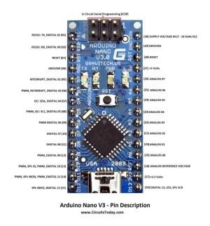Arduino Nano Pinout & Schematics  Complete tutorial with pin description