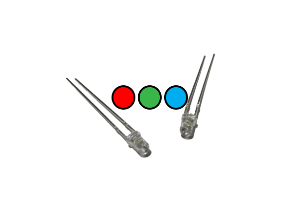 3mm RGB Color Changing LED (Transparent Material) - CircuitUncle - Buy in India