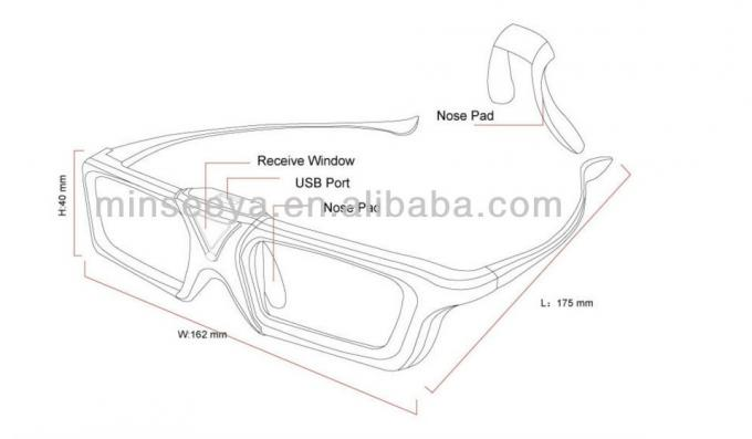 144HZ DLP Link 3D Glasses Active Shutter Cr2025 Battery
