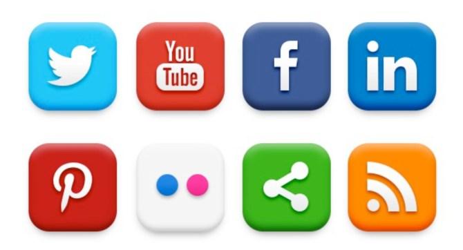 8 social media icons