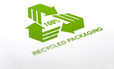 Circular economy article Recycled Packaging Logo