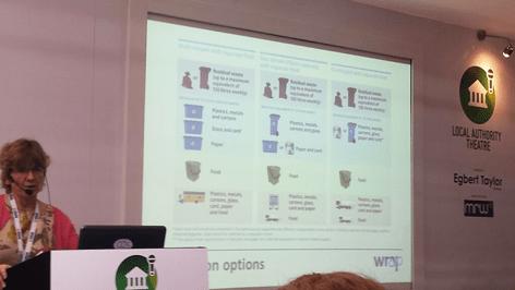Linda Crichton presenting the three systems