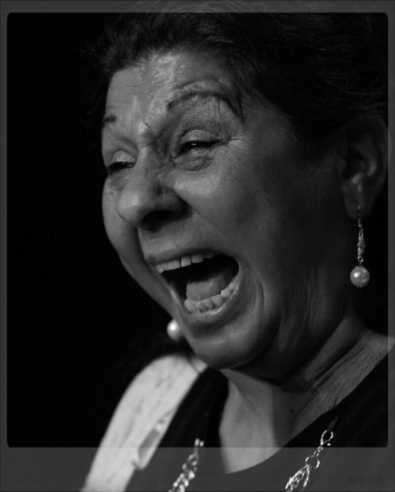 Foto de Dolores Agujetas en el Círculo Flamenco de Madrid, tomada por Diego Gallardo