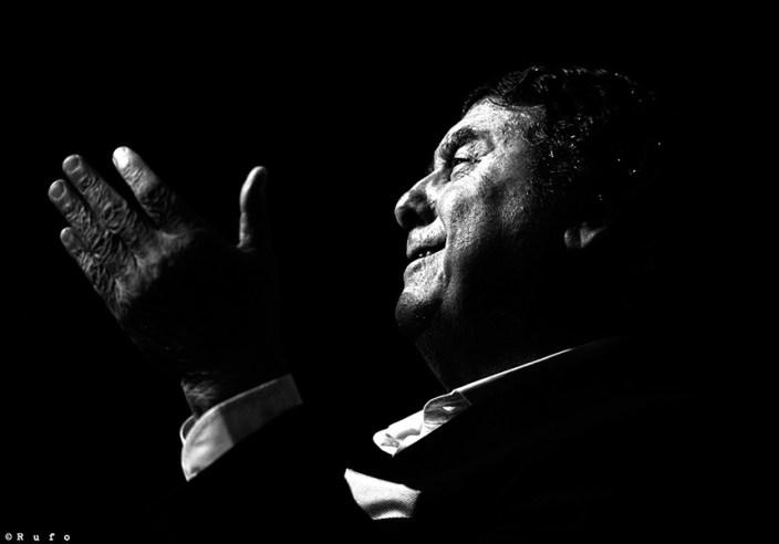 Foto de Luis El Zambo en el Círculo Flamenco de Madrid, tomada por Rufo