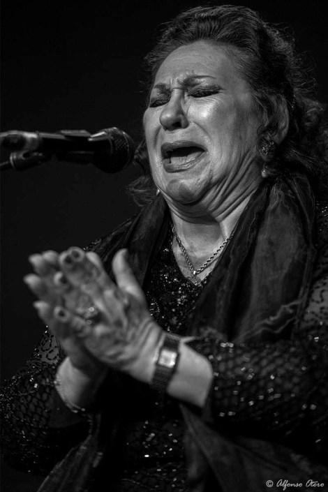 Foto de María Vargas en el Círculo Flamenco de Madrid, tomada por Alfonso Otero