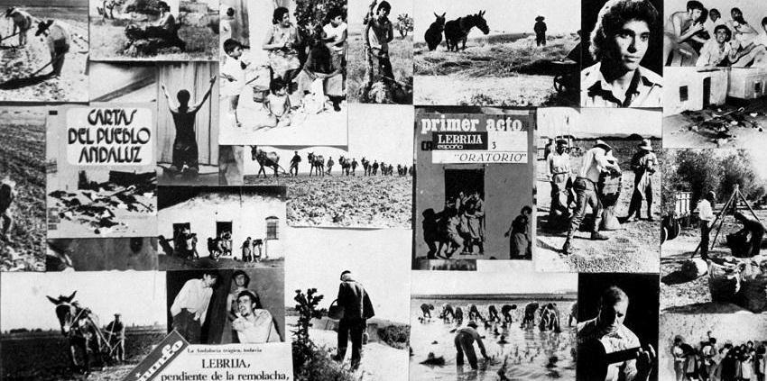 Fotos y collage de Mario Fuentes para el disco Campo Joven de Manuel de Paula