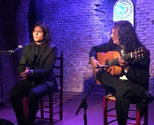 Samuel Serrano y Diego Amaya en el Círculo Flamenco de Madrid el 11/01/2018.