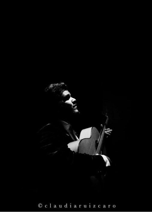 Foto de Nono Reyes en el Círculo Flamenco de Madrid, tomada por Claudia Ruiz