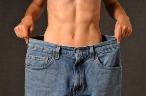 man with bigger jeans