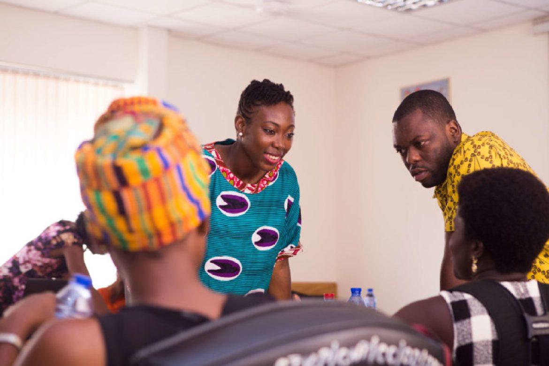 Circumspecte's Jemila Abdulai runs women entrepreneurs through a practical session on digital skills and social media tools at DGBizWomen training.