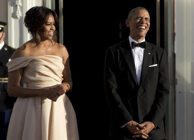 President Barrack Obama and his wife first lady Michelle Obama