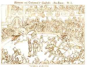 au Cirque Astley - cirque en 1852